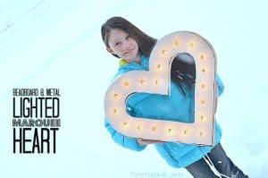 Lighting Marquee Heart