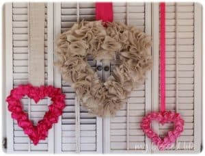 Ruffled Satin Valentine Wreath