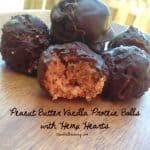 Peanut Butter Vanilla Protein Balls with Hemp Hearts
