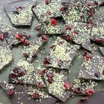 Raw, Vegan Chocolate Bark with Cranberries and Hemp Seeds