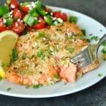 Herb Crusted Dijon Salmon