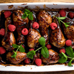 Raspberry Chicken Drumsticks