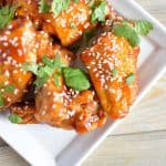 Sweet and Spicy Asian Style Wings