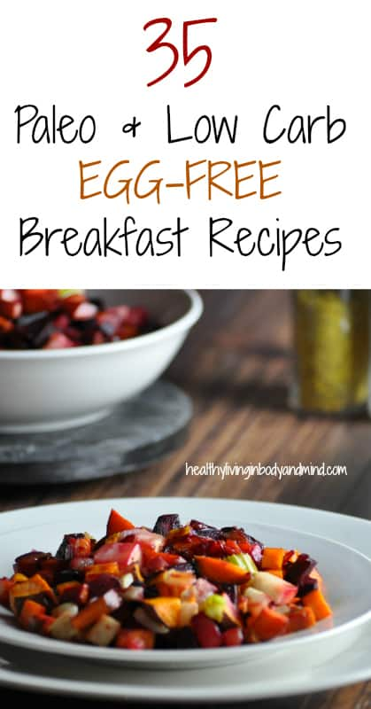 35 Paleo and Low Carb EGG-FREE Breakfast Recipes