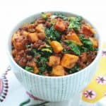 Chorizo, Kale and Sweet Potato Hash