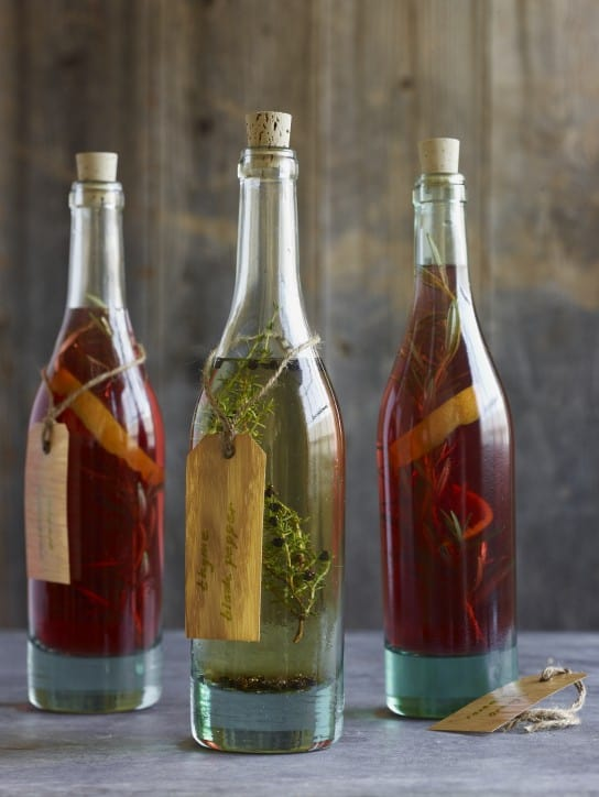 Garlic Herb Vinegar Recipe - Infused Oil and Vinegar Recipe  Round Up | Healthy Living in Body and Mind