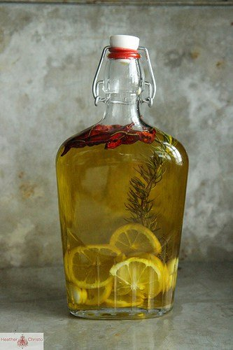 Meyer Lemon, Chili and Rosemary Infused Olive Oil - Infused Oil Round-Up | Healthy Living in Mind and Body
