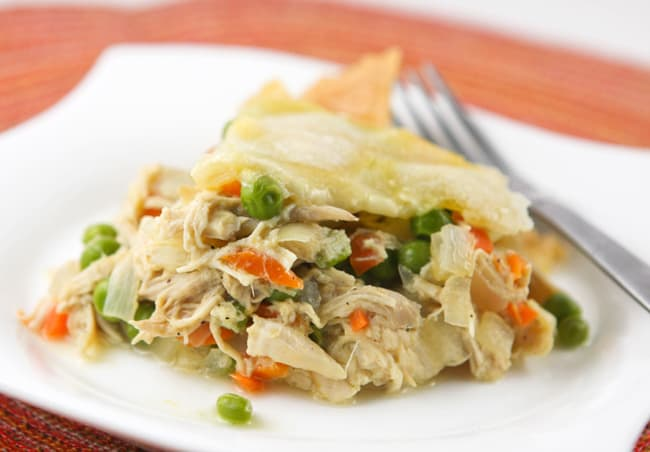 Chicken Pot Pie Casserole - 50 Easy Weeknight Casserole Recipes | Healthy Living in Body and Mind