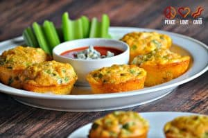 Buffalo Chicken Egg Muffins