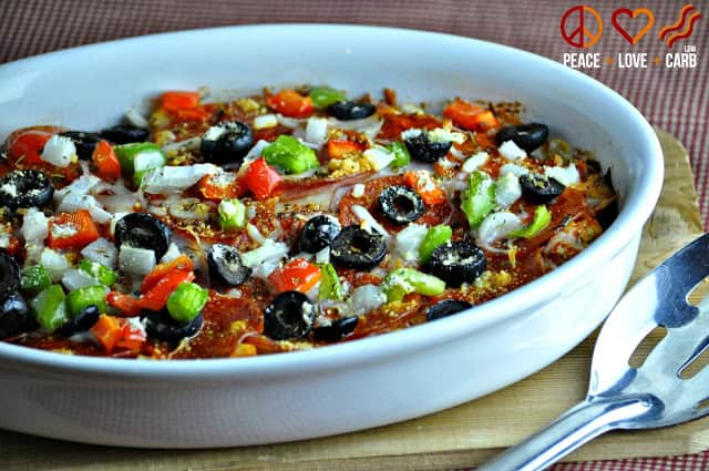 Cauliflower Pizza Casserole - Low Carb - 50 Easy Weeknight Casserole Recipes | Healthy Living in Body and Mind