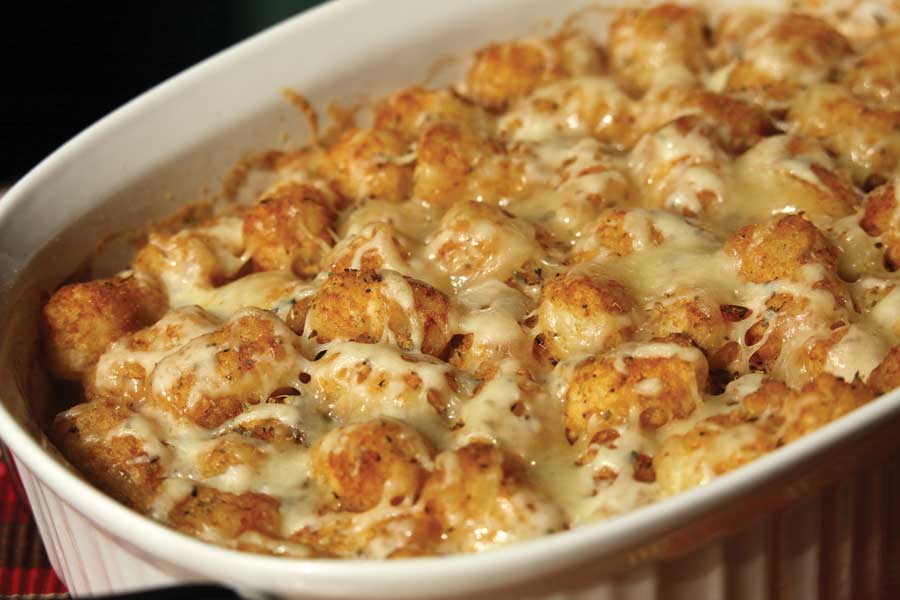 Cheeseburger Tater Tot Casserole - 50 Easy Weeknight Casseroles   Healthy Living in Body and Mind