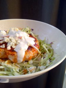 Buffalo Chicken Patties with Blue Cheese