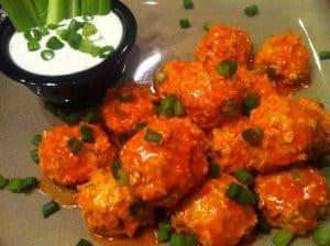 Buffalo Blue Chicken Meatballs