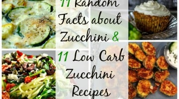 11 Random Facts About Zucchini and 11 Low Carb Zucchini Recipes