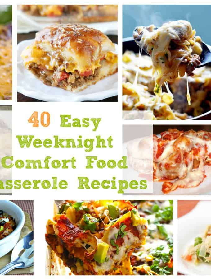 40 Easy Weeknight Comfort Food Casserole Recipes