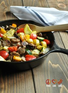 Chicken Sausage and Vegetable-Skillet- Low Carb, Paleo, Gluten Free | 11 Random Facts About Zucchini and 11 Low Carb Zucchini Recipes