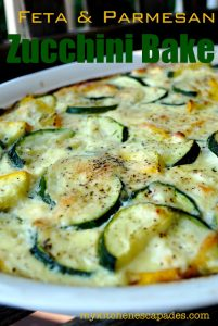 Feta and Parmesan Zucchini Bake - Low Carb, Gluten Free | 11 Random Facts About Zucchini and 11 Low Carb Zucchini Recipes