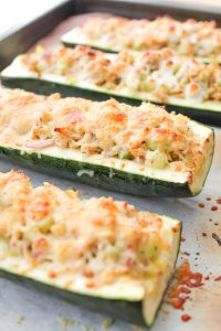 Roasted Zucchini Tuna Melts - Low Carb, Gluten Free | 11 Random Facts about Zucchini and 11 Low Carb Zucchini Recipes