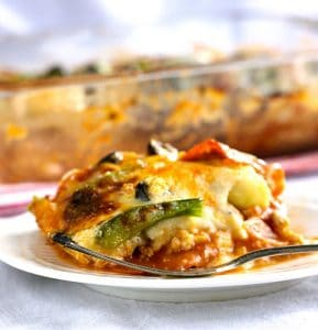 Zucchini Pizza Lasagna - Low Carb, Gluten Free | 11 Random Facts about Zucchini and 11 Low Carb Zucchini Recipes