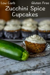 Zucchini Spice Cupcakes - Low Carb, Gluten Free | 11 Random Facts about Zucchini and 11 Low Carb Zucchini Recipes