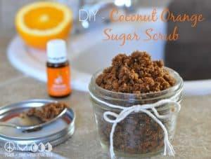 DIY - Coconut Orange Sugar Scrub with Essential Oils