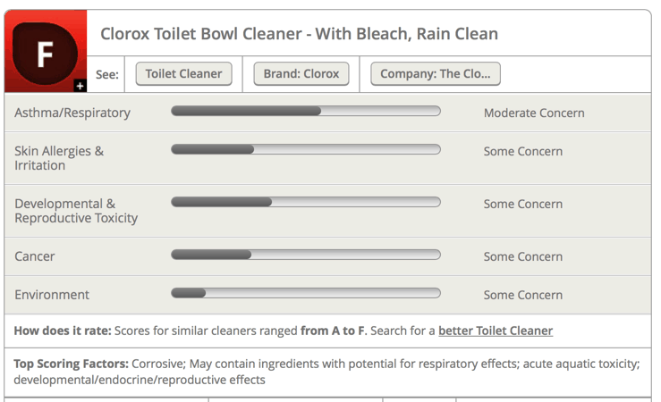 Clorox Toilet Bowl Cleaner with Bleach - TOXIC