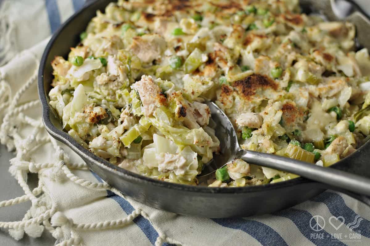 Cabbage Noodle Tuna Casserole - Low Carb, Gluten Free