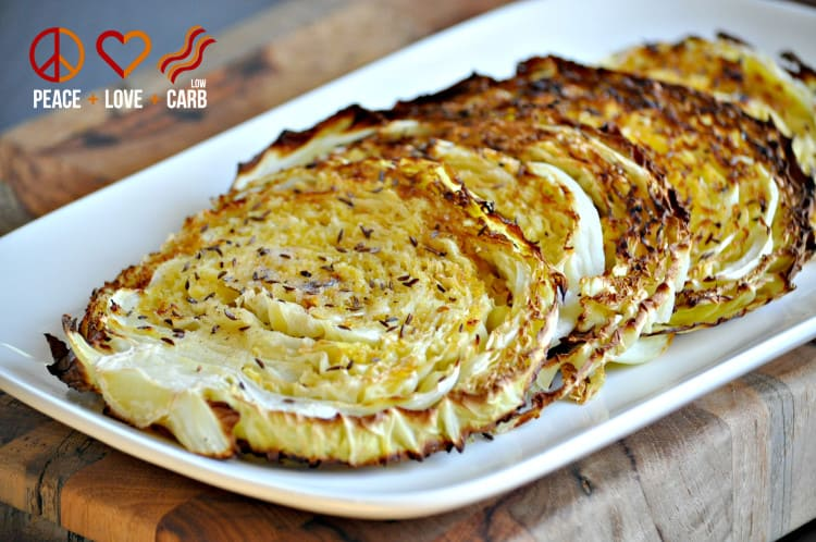 Oven Roasted Cabbage Wedges | Peace Love and Low Carb