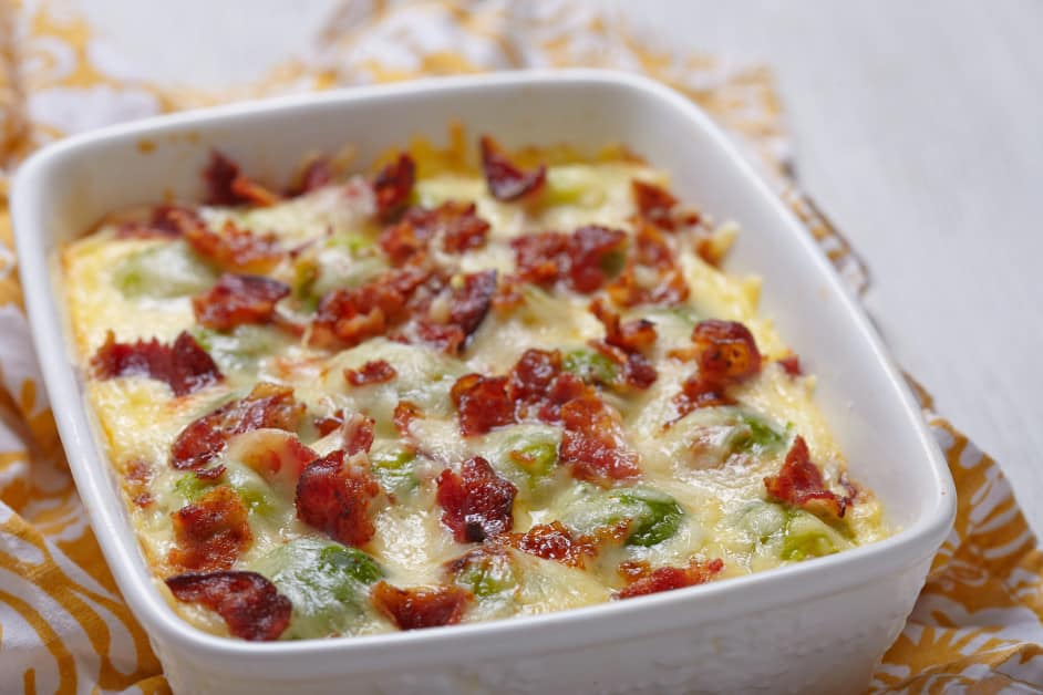 Cheesy Bacon Brussels Sprouts Casserole | 12 Tomatoes