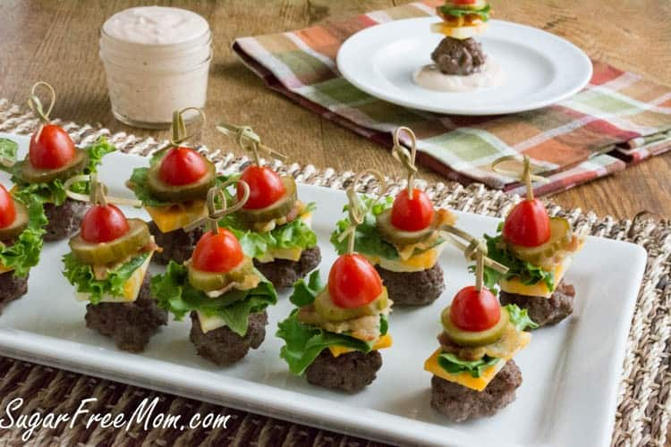 Cheeseburger Bites with Thousand Island Dip | Sugar Free Mom