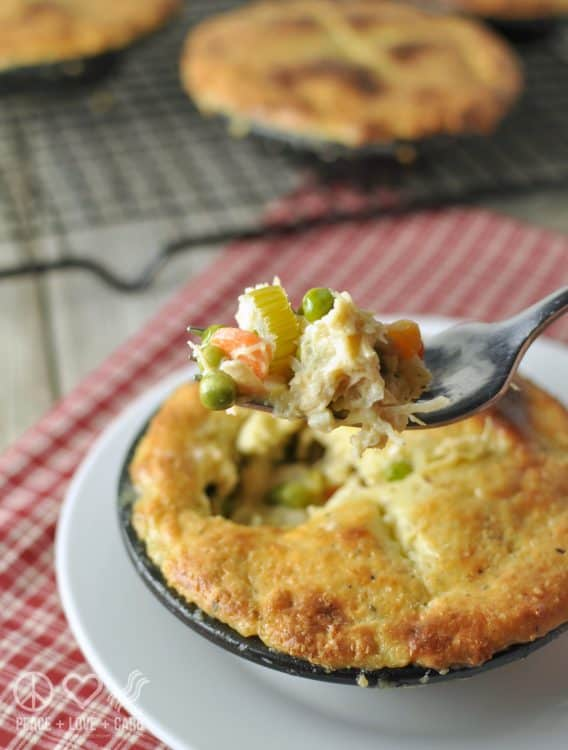Chicken Pot Pie - Low Carb, Gluten Free | Peace Love and Low Carb