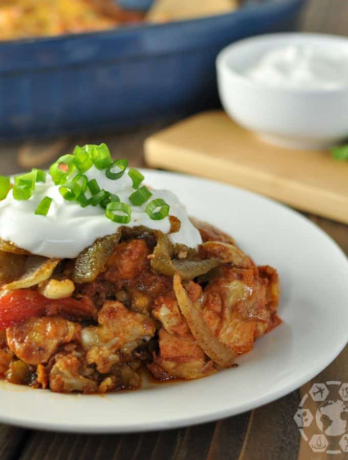 Green Chile Chorizo and Chicken Mexican Casserole – Low Carb