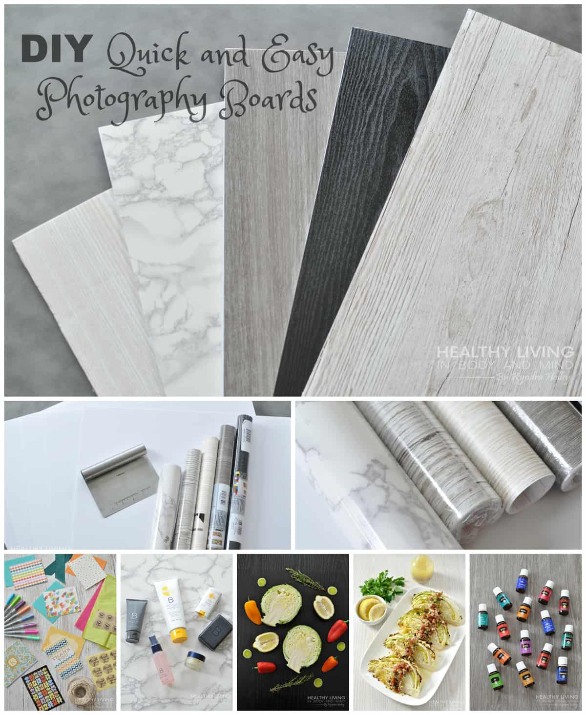 DIY Quick and Easy Photography Boards | Healthy Living in Body and Mind