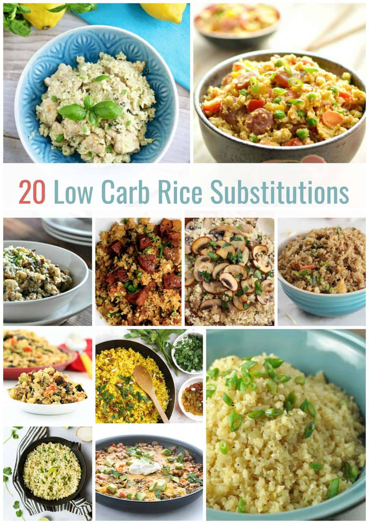 20 Low Carb Rice Substitution Recipes   Healthy Living in Body and Mind