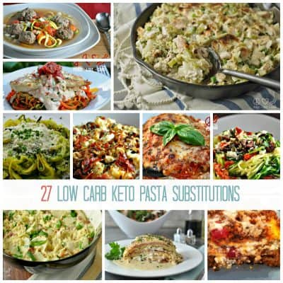 27 Low Carb, Keto Pasta Substitutions | Peace Love and Low Carb