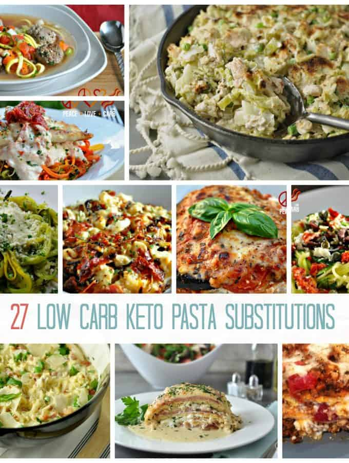 27 Low Carb Keto Pasta Substitutions