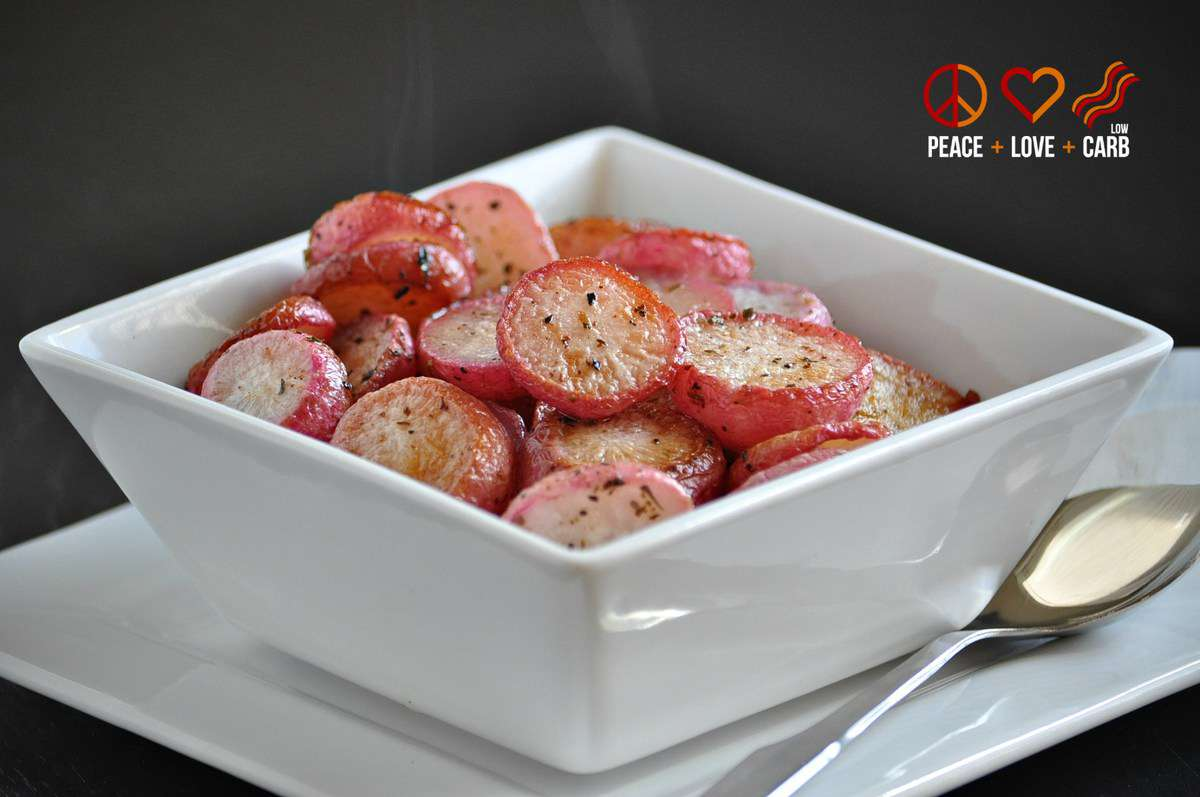 Butter Roasted Radishes | Peace Love and Low Carb