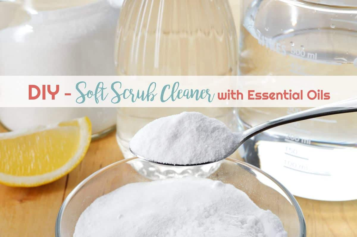 DIY Soft Scrub Cleaner with Essential Oils