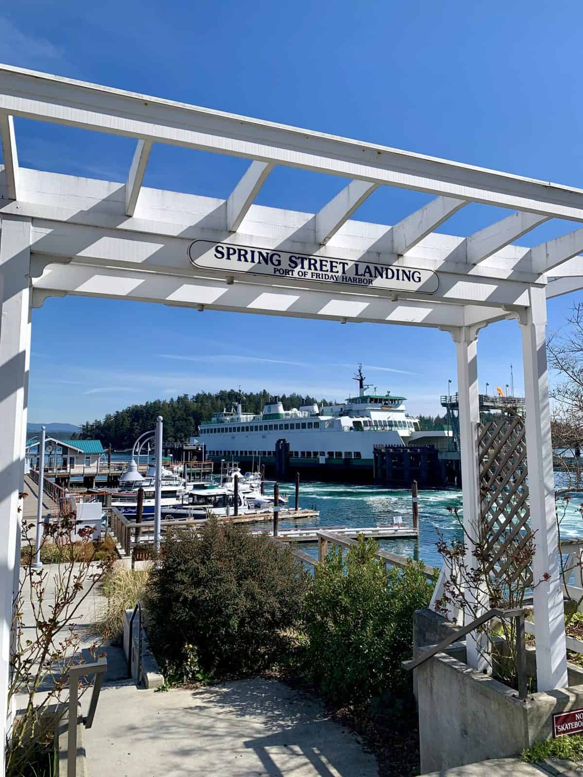 Picture of Spring Street Landing in Friday Harbor on San Juan Island