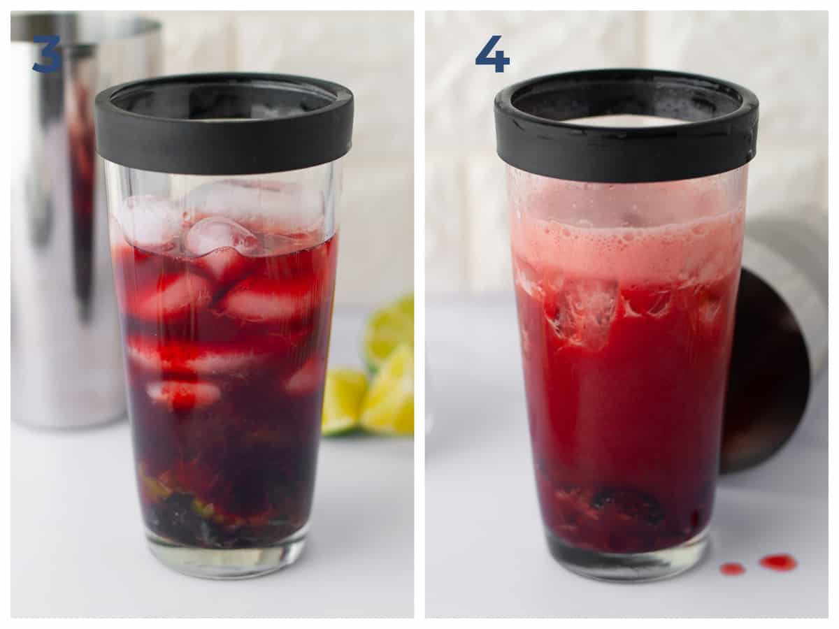 Step by step instructions to make tart cherry limeade cocktails