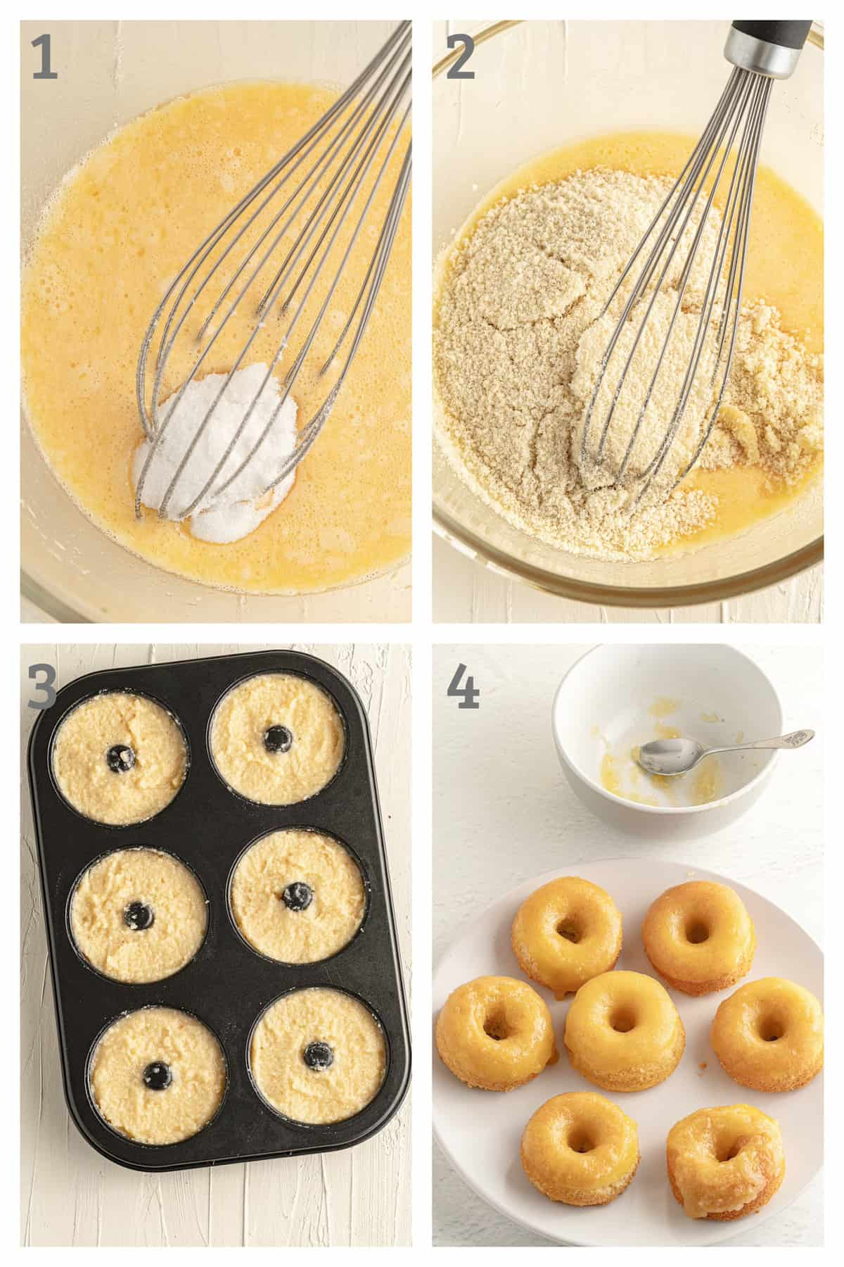 Step by Step Instructions to make Keto Lemon Glazed Donuts Step by Step Instructions