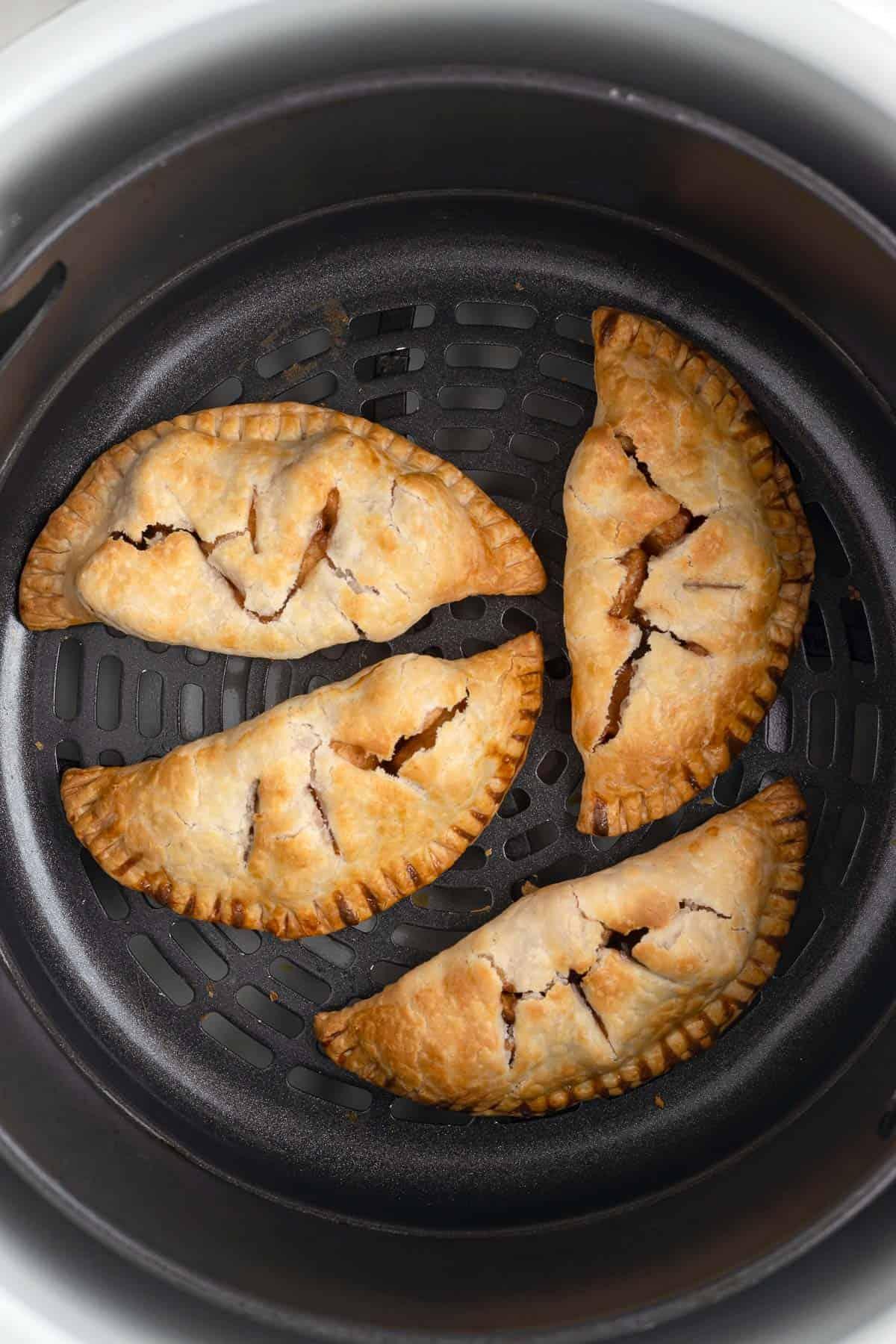 mini apple hand pies in a ninja air fryer